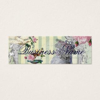 La Lettre D'amour gold Mini Business Card