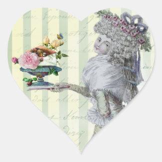 La Lettre D'amour Pegatina En Forma De Corazón