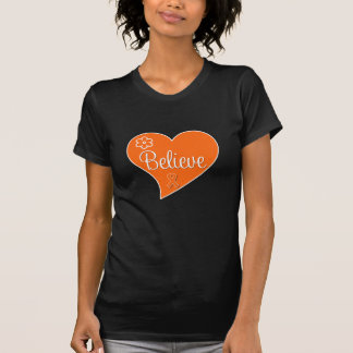 La leucemia cree el corazón t-shirt