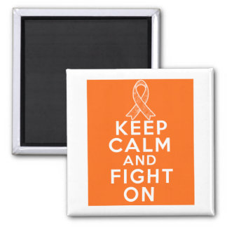 La leucemia guarda calma y sigue luchando imán cuadrado