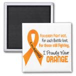 La leucemia I lleva orgulloso el naranja Imán De Nevera