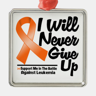 La leucemia I nunca dará para arriba Ornamento De Navidad