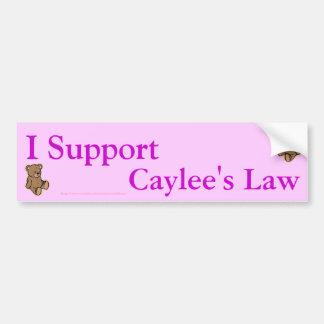La ley de los caylee del suport I Pegatina Para Auto