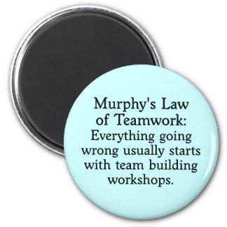 La ley de Murphy para el trabajo en equipo (2) Imán Redondo 5 Cm