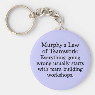 La ley de Murphy para el trabajo en equipo (2) Llavero Redondo Tipo Pin