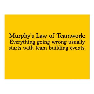 La ley de Murphy para el trabajo en equipo Postal