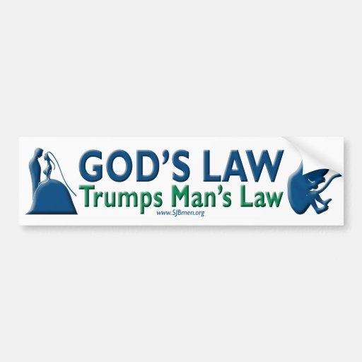 La ley del hombre de los triunfos de la ley de pegatina para auto