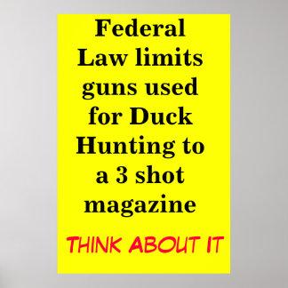 La ley federal limita los armas usados para el pat posters