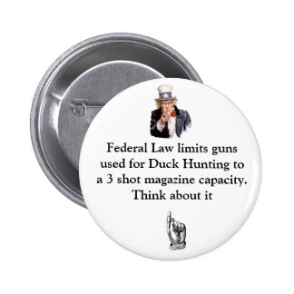 La ley federal limita los armas usados para el pat pin redondo 5 cm