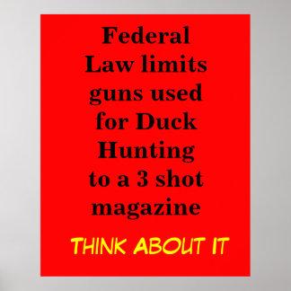 La ley federal limita los armas usados para el pat póster