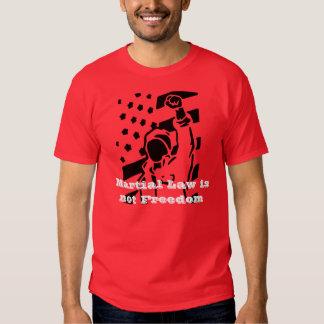 La ley marcial no es camiseta de la libertad playeras