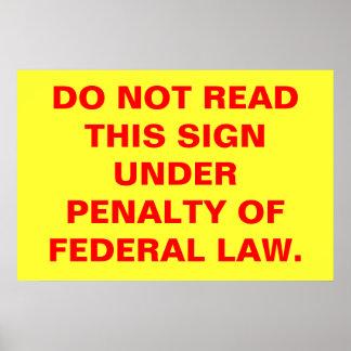 La ley póster