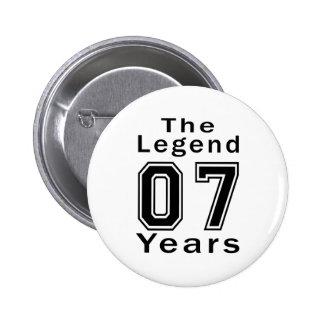 La leyenda 07 años de regalos de cumpleaños pin