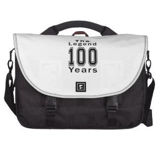 La leyenda 100 años de regalos de cumpleaños bolsas para ordenador