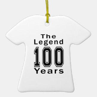 La leyenda 100 años de regalos de cumpleaños adorno para reyes