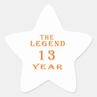 La leyenda 13 años colcomania cuadrada