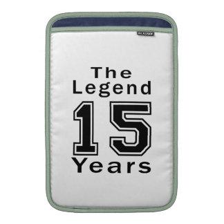 La leyenda 15 años de regalos de cumpleaños funda  MacBook