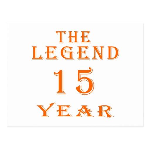 La leyenda 15 años postal