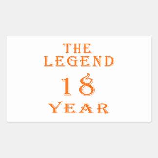 La leyenda 18 años etiquetas