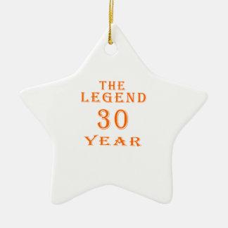 La leyenda 30 años ornaments para arbol de navidad
