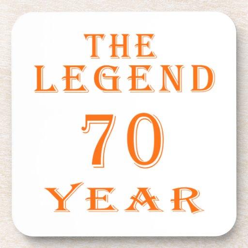 La leyenda 70 años posavasos de bebida