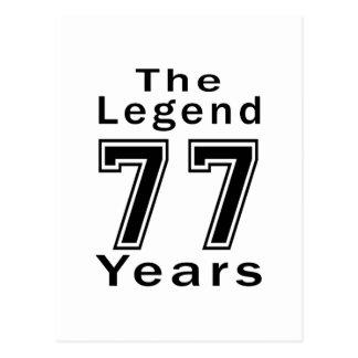 La leyenda 77 años de regalos de cumpleaños postal