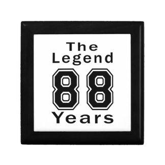 La leyenda 88 años de regalos de cumpleaños caja de regalo