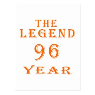 La leyenda 96 años tarjetas postales