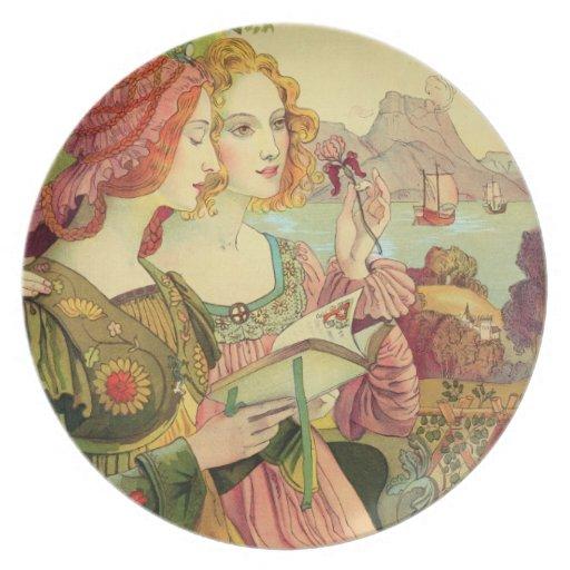 """La leyenda de oro, 1897, de """"L'Estampe Moderne"""", Platos"""