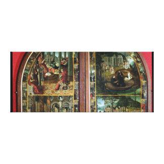 La leyenda de St. Bertín Lienzo Envuelto Para Galerias