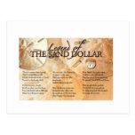 La leyenda del dólar de arena postal
