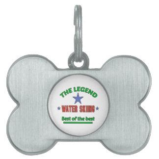 La leyenda del esquí acuático placa de mascota