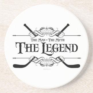 La leyenda (hockey) posavasos de arenisca