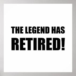 La leyenda se ha retirado póster
