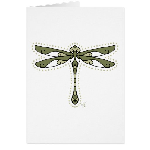 La libélula céltica tarjetas