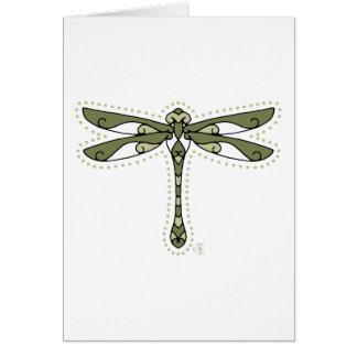 La libélula céltica tarjeta de felicitación