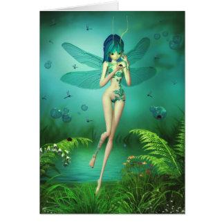 La libélula Flitters tarjeta del saludo/de nota