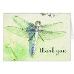 "La libélula hermosa ""le agradece"" cardar tarjeta"