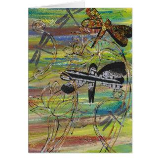La libélula Jewels la tarjeta de felicitación