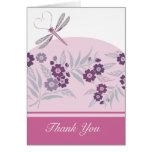 La libélula le agradece tarjeta de nota
