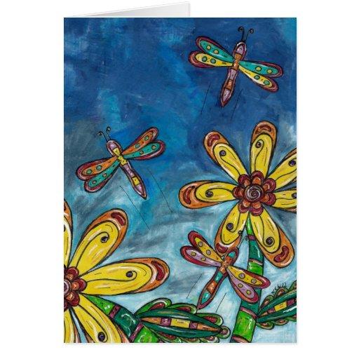 La libélula libera la tarjeta