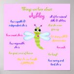 """La """"libélula linda"""" personalizó el poster para los"""