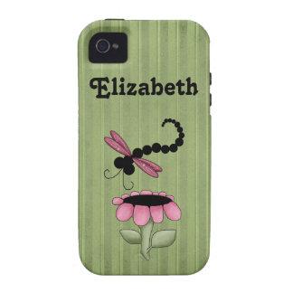 La libélula personalizó la caja de Iphone 4 iPhone 4 Fundas