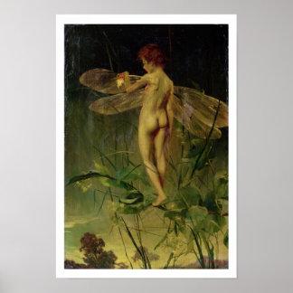 La libélula póster