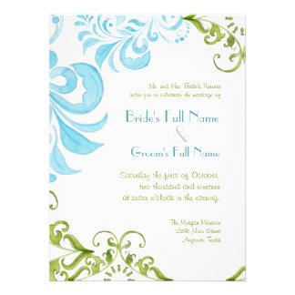 La libélula remolina las invitaciones del boda de invitacion personal