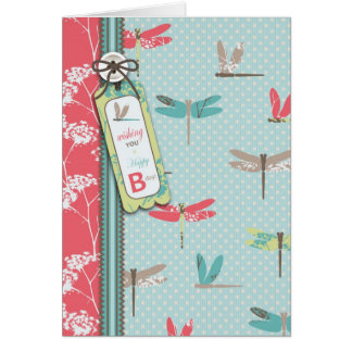 La libélula soña la tarjeta
