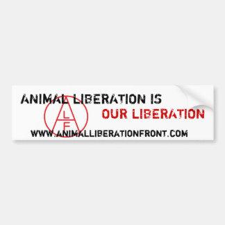 La liberación animal de ALF es nuestra liberación Pegatina Para Auto
