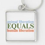 La liberación animal iguala la liberación humana llavero personalizado