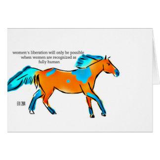 La liberación de las mujeres tarjeta de felicitación