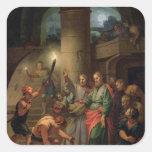 La liberación de San Pablo y de St. Barnabas Pegatina Cuadrada